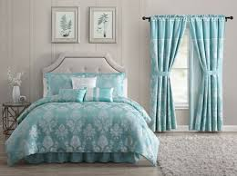 queen fq blue rose fl comforter set