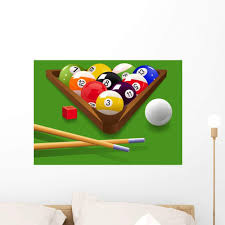 Amazon Com Wallmonkeys Billiard Wall Decal Peel And Stick Graphic Wm7954 24 In W X 17 In H Home Kitchen