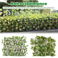 Retractable Artificial Garden Fence Expandable Faux Ivy Privacy Fence Wood Vines Climbing Frame Gardening Plant Home Decorations Fencing Trellis Gates Aliexpress