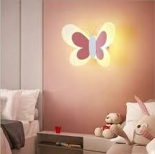 Butterfly Wall Sconce Night Lights Kids Bedroom Sconces Wall Lighting Girls Pink Ebay