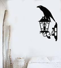 Vinyl Wall Decal Crow Black Raven Bird Lantern Street Style Stickers G1393 Ebay