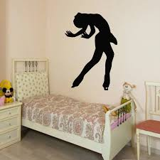 Wall Decals Girl Figure Skater Ice Skating Sport People Home Vinyl Decal Sticker Kids Nursery Baby Room Decor Gym Wall Art A122 Wall Stickers Aliexpress
