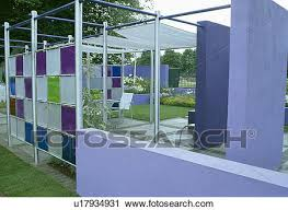 stained glass panels in walls of modern