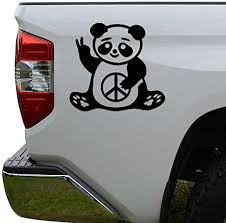 Amazon Com Rosie Decals Panda Bear Peace Sign Die Cut Vinyl Decal Sticker For Car Truck Motorcycle Window Bumper Wall Decor Size 12 Inch 30 Cm Wide Color Gloss White Home Kitchen
