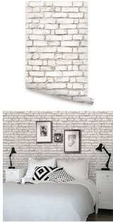 Brick White Peel And Stick Wallpaper Wall Sticker Outlet Brick Wallpaper Living Room Wallpaper Design For Bedroom White Brick Walls