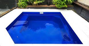 fibreglass pools in varying dimensions