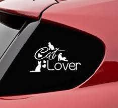 Amazon Com Slap Art Cat Lover Vinyl Decal Bumper Sticker Automotive