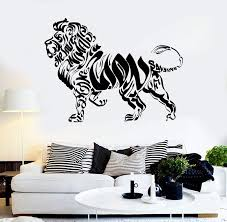 Vinyl Wall Decal Lion Animal Savannah Words Stickers Unique Gift Ig38 Wallstickers4you