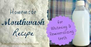 homemade mouthwash recipe for whitening