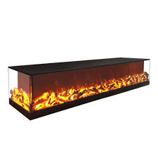 2 sided electric fireplace 3d decor