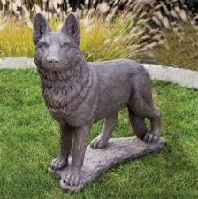 german shepherd statue 31 5 granite