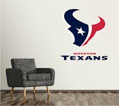 Houston Texans Nfl Wall Decal Sport Logo Nfl Vinyl Home Decor Room