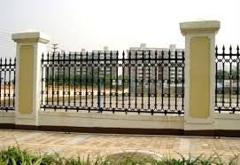 Garden Security Black Wrought Iron Fences Designs China Interior Stair Railing Fence Made In China Com