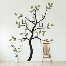 Family Tree Wall Decal With Frames Family Tree Decal Kit