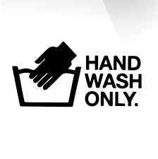 Hand Wash Only Car Decal Sticker Stickyart