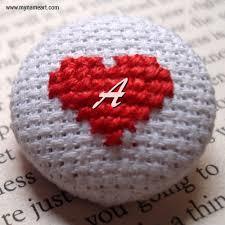 write alphabet letters on beautiful heart