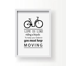 canvas prints riding bicycle keep balance keep moving letters