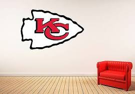 Kansas City Chiefs Wall Decal Nfl Logo Vinyl Design Man Cave Color Decor Cg915