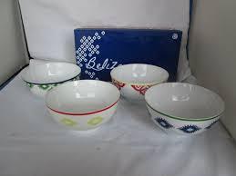 belize soup bowls new set of 4 colorful