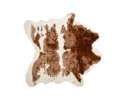 brown white cow indoor area rug
