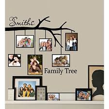 Decal Family Tree With Picture Frames Custom Name Wall Decal 23 X 27 5 Walmart Com Walmart Com