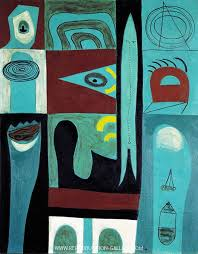 Night Voyage 1946 Painting By Adolph Gottlieb - Reproduction Gallery