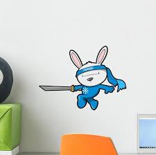 Cute Bunny Rabbit Ninja Wall Decal Wallmonkeys Com