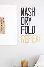 Diy Laundry Room Wall Decal Kim Byers