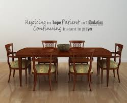 Bible Verse Wall Decals Romans 12 12 Rejoicing In Hope Patient In Tribulation Continuing Instant In Prayer Customvinyldecor Com