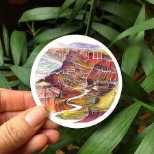 Grand Canyon Vinyl Sticker Katharine Ryalls