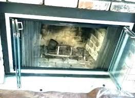 fireplace door handle replacement wood