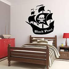 Amazon Com Customvinyldecor Pirate Ship Wall Decal Personalized Removable Vinyl Sticker For Boys Room Playroom School Classroom Nursery Preschool Home Decor Handmade