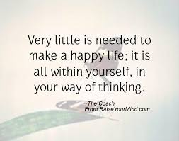 happiness quotes very little is needed to make a happy life it