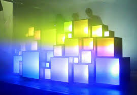 homemade dj light stage