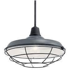 kichler 49993gg gloss grey pier 17