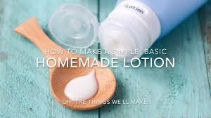 how to make a simple homemade lotion
