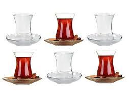turkish tea cups saucers glass cay