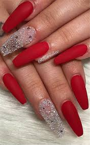 45 Hottest Red Long Acrylic Coffin Nails Designs Of 2019 Page 31