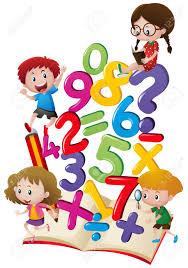 Niños Y Números En La Ilustración Del Libro Ilustraciones ...