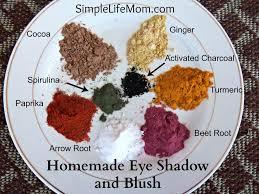 homemade eye shadow and blush simple