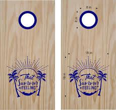 That Summer Feeling Beach Life Cornhole Board Vinyl Decal Sticker