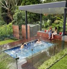 backyard ideas for hot tubs and swim