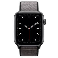 Apple Watch Series 5 GPS + Cellular, 44mm Space Gray Aluminum Case with  Anchor Gray Sport Loop - XL - Education - Apple