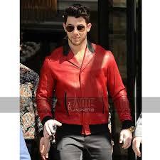 nick jonas red vintage er jacket