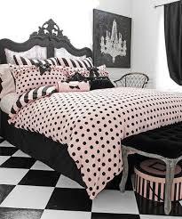 pink black left bank comforter set