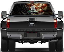 Gadsden Usa Old Flag Don T Tread On Me Rear Window Graphic Decal Truck Van Rear Window Decals Truck Decals Van Car