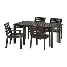 klÖven table 4 chairs w armrests