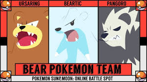 BEAR POKÉMON TEAM! Pokémon Battle! - YouTube