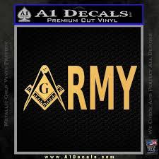 Freemason Army Decal Sticker A1 Decals