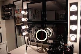 bedroom makeup vanity with lights bulb